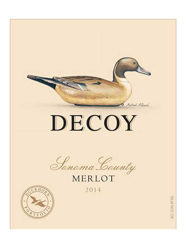 Decoy Merlot Sonoma County 2014 750ML Label