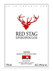 Domaine Spiropoulos Red Stag Agiorgitiko Nemea 750ML Label