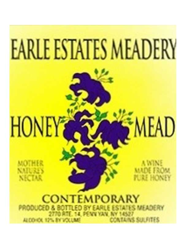 Earle Estates Contemporary Honey Mead Semi-Dry NV 750ML Label