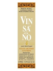 Estate Argyros Vin Santo 4 Years Barrel Aged Santorini 500ML Label