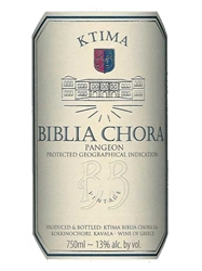 Estate Biblia Chora Estate White Pangeon 750ML Label