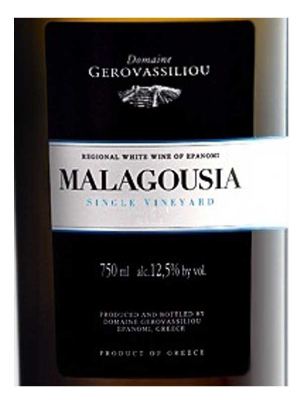 Estate Gerovassiliou Malagousia Epanomi 2014 750ML Label