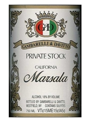 Gambarelli & Davitto (G&D) Private Stock Marsala California NV 750ML Label