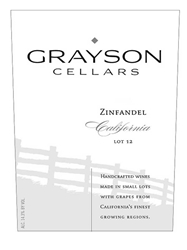 Grayson Cellars Zinfandel Lot 12 750ML Label