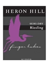 Heron Hill Winery Semi Dry Riesling Finger Lakes 750ML Label