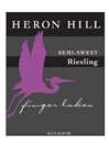 Heron Hill Winery Semi Sweet Riesling Finger Lakes 750ML Label