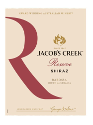 Jacobs Creek Reserve Shiraz Barossa Valley 750ML Label