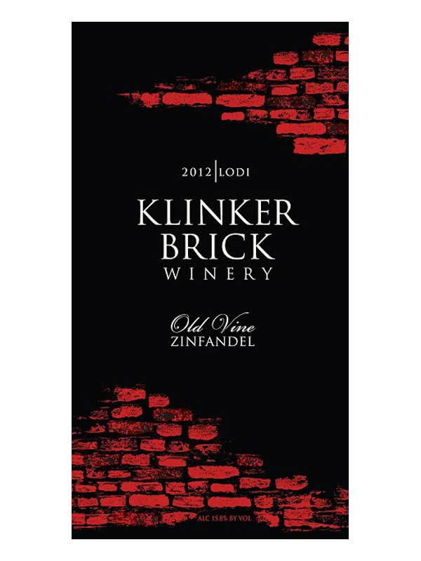 Klinker Brick Old Vine Zinfandel Lodi 2012 750ML Label