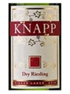 Knapp Winery Dry Riesling Finger Lakes 750ML Label