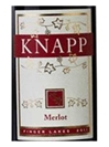 Knapp Winery Merlot Finger Lakes 750ML Label