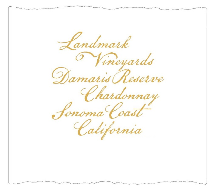 Landmark Chardonnay Damaris Reserve Sonoma 2010 750ML Label