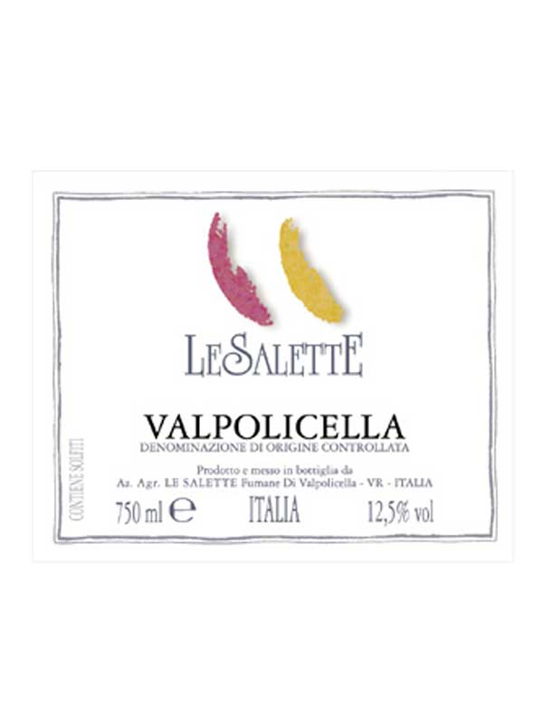 Le Salette Valpolicella 2015 750ML Label