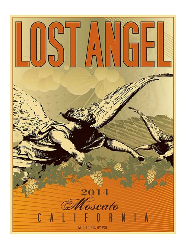 Lost Angel Moscato 2014 750ML Label