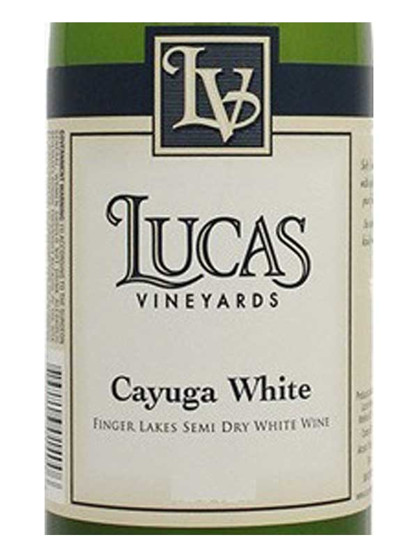 Lucas Vineyards Cayuga White Finger Lakes 750ML Label
