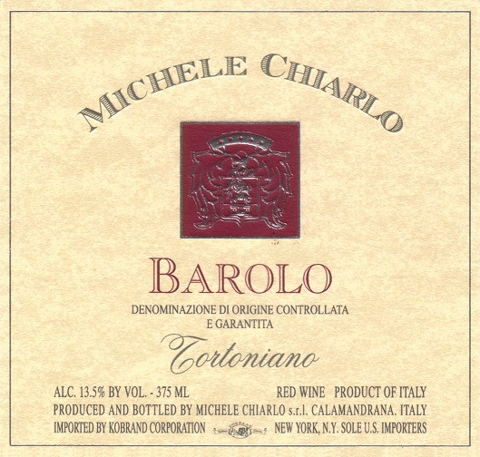 Michele Chiarlo Barolo Tortoniano 2010 750ML Label