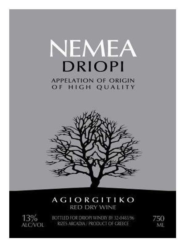 Nemea Driopi Nemea Nemea 2007 750ML Label