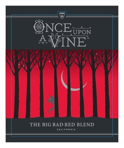 Once Upon A Vine, The Big Bad Red Blend 2012 750ML Label