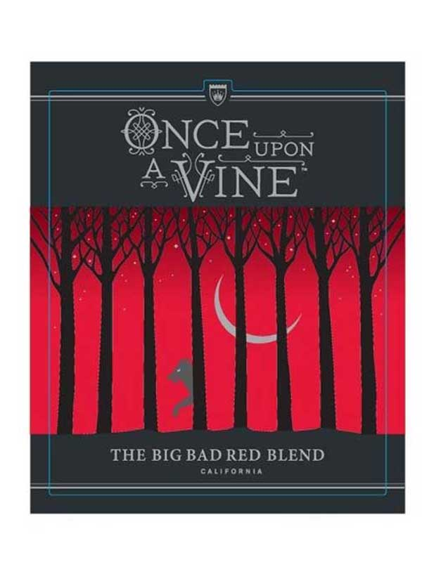 Once Upon A Vine, The Big Bad Red Blend 2014 750ML Label