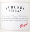 Penfolds St. Henri Shiraz South Australia 2011 750ML Label