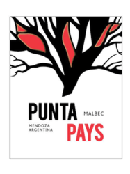 Punta Pays Malbec Mendoza 750ML Label