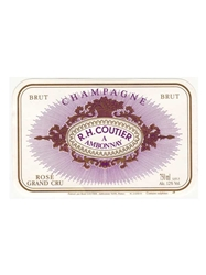 R H Coutier Brut Rose Grand Cru NV 750ML Label