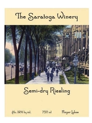 Saratoga Winery Semi-Dry Riesling 750ML Label