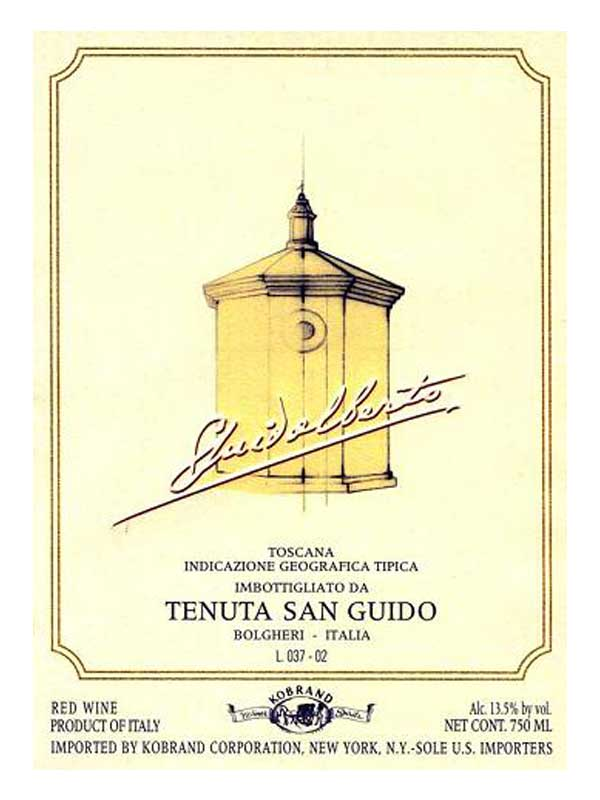 Tenuta San Guido Guidalberto Tuscany 2012 750ML Label