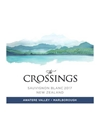The Crossings Sauvignon Blanc Atwatere Valley, Marlborough 2017 750ML Label