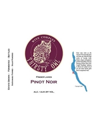 Thirsty Owl Wine Co. Pinot Noir Finger Lakes 750ML Label