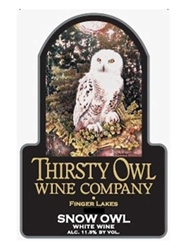 Thirsty Owl Wine Co. Snow Owl Finger Lakes 750ML Label