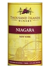 Thousand Islands Winery Niagara Alexandria Bay NV 750ML Label