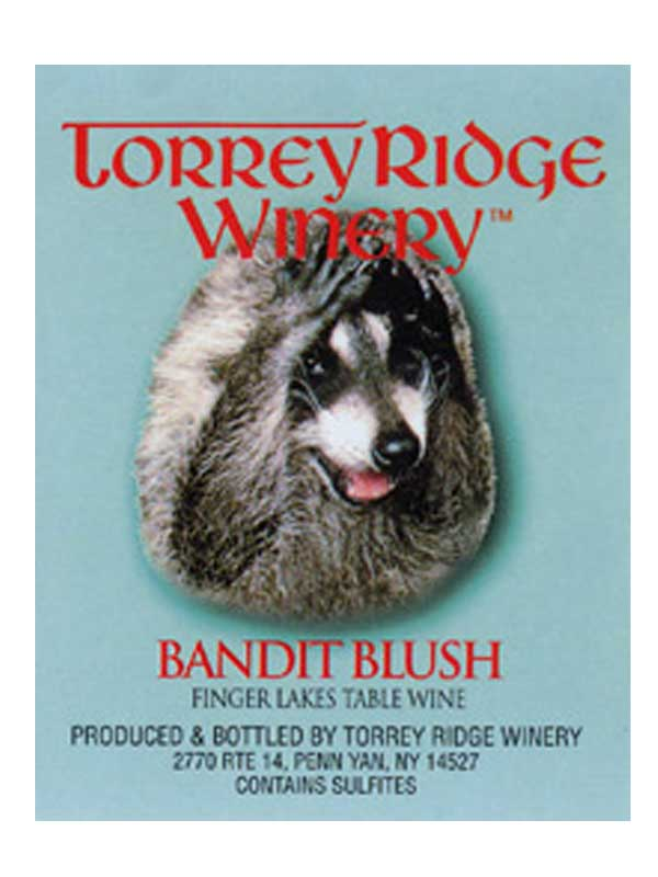 Torrey Ridge Winery Bandit Blush NV Finger Lakes 750ML Label