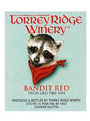 Torrey Ridge Winery Bandit Red NV Finger Lakes 750ML Label
