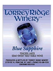 Torrey Ridge Winery Blue Sapphire NV Finger Lakes 750ML Label