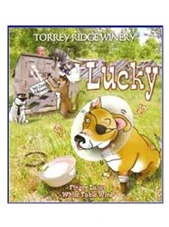 Torrey Ridge Winery Lucky White Table Wine Finger Lakes 750ML Label