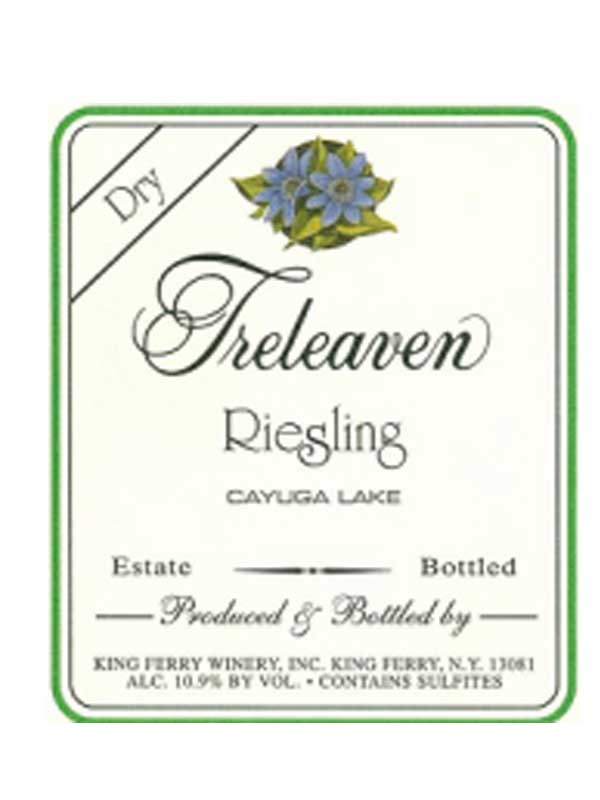 Treleaven Dry Riesling Finger Lakes 750ML Label