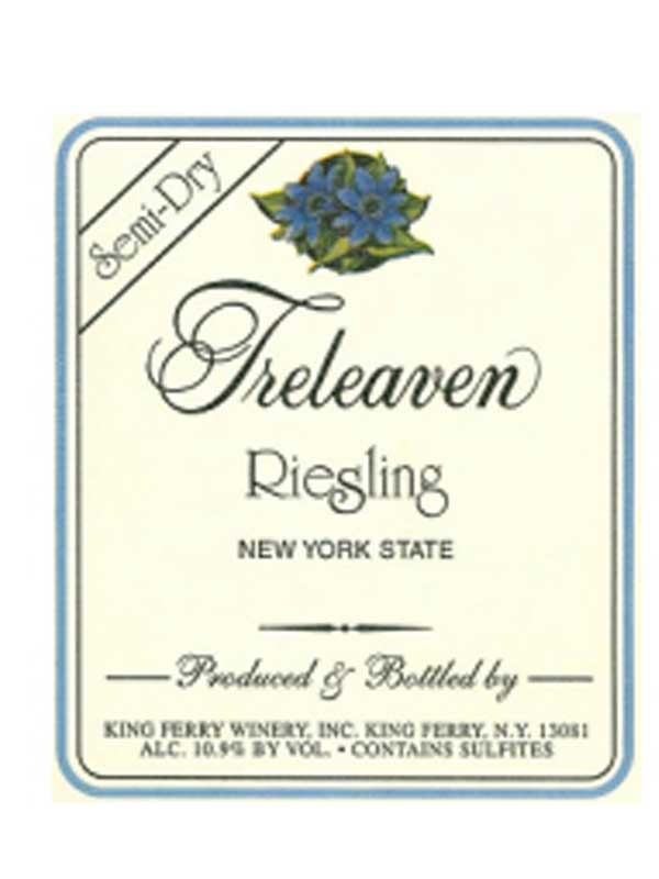 Treleaven Semi-Dry Riesling Finger Lakes 750ML Label