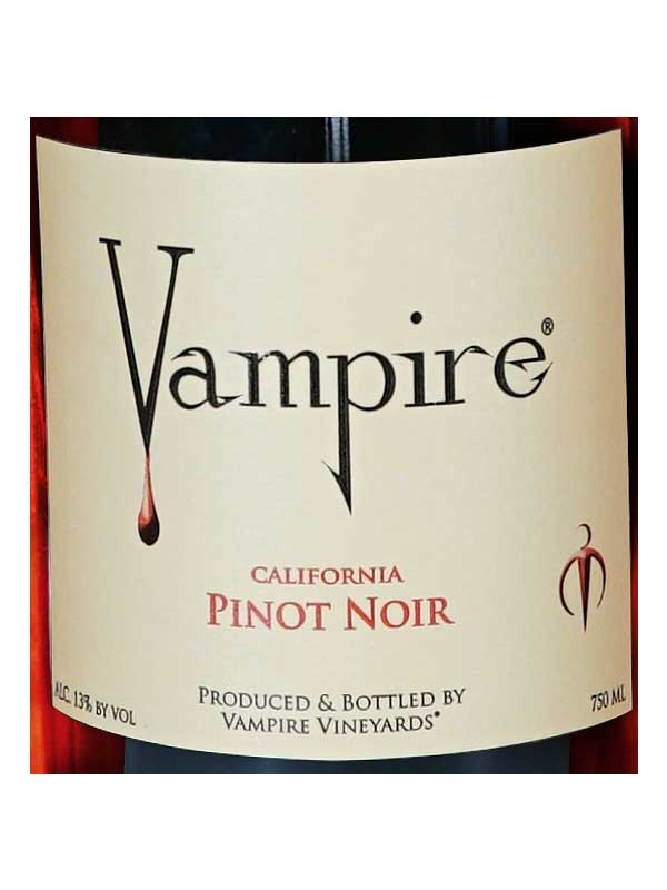 Vampire Vineyards Pinot Noir 750ML Label