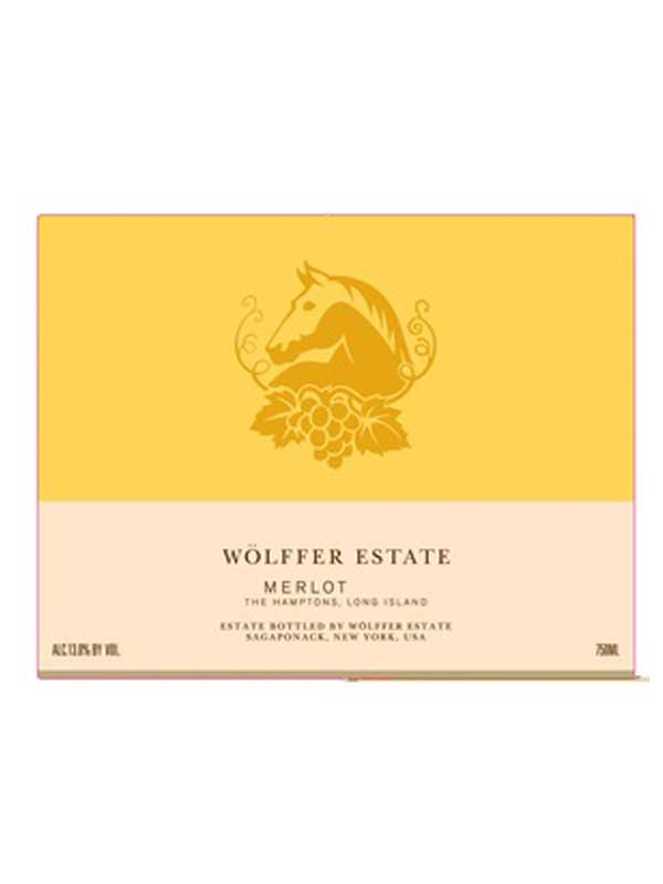 Wolffer Estate Merlot Long Island 750ML Label