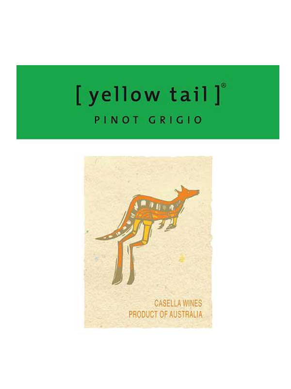 Yellow Tail Pinot Grigio South Eastern Australia 750ML Label