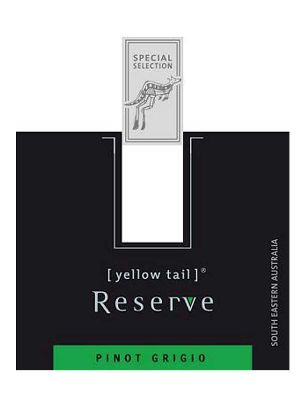 Yellow Tail Reserve Pinot Grigio Southeastern Australia 2011 750ML Label
