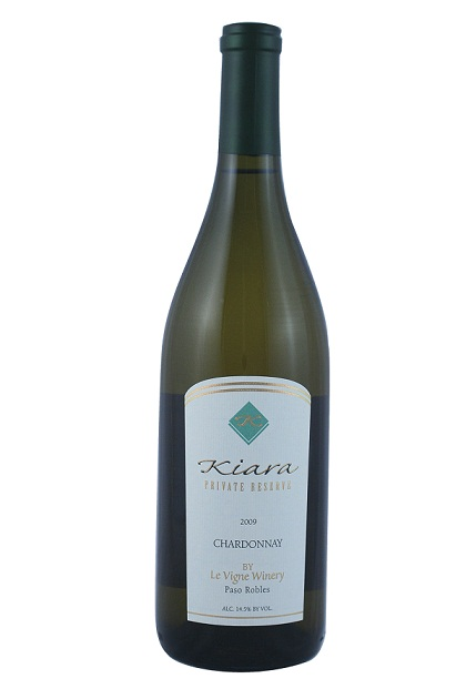 Kiara by Le Vigne Winery Chardonnay Private Reserve Paso Robles 2009 750ML