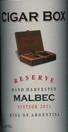 Cigar Box Reserve Malbec Mendoza 2011 750ML - 89751366
