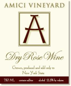 Amici Vineyard Dry Rose Hudson Valley 750ML