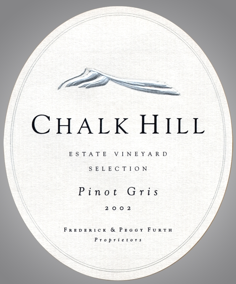 Chalk Hill Estate Pinot Gris Sonoma 2001 750ML - 971231607