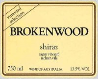 Brokenwood Shiraz Rayner Vineyard 2002 750ML