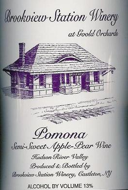 Brookview Station Winery Pomona Semi-Sweet Apple/Pear Wine Hudson Valley 750ML