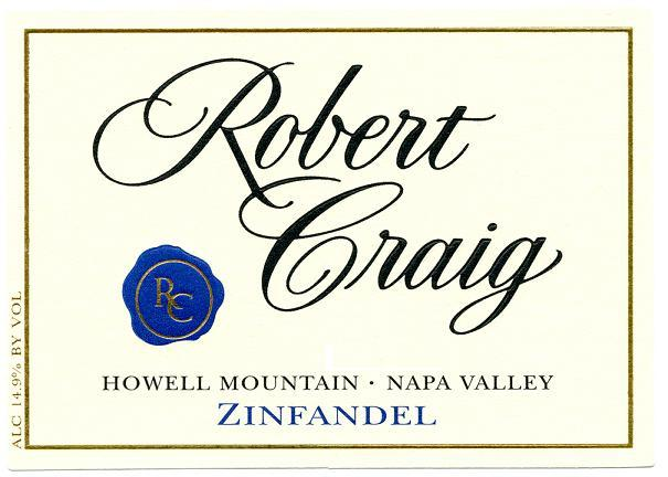 Robert Craig Zinfandel Howell Mountain Napa Valley 2008 750ML