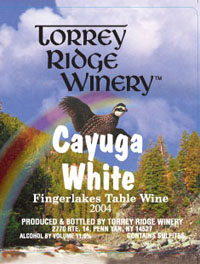 Torrey Ridge Winery Cayuga White Finger Lakes 750ML
