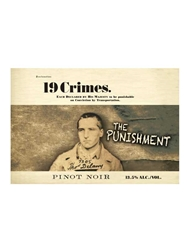 19 Crimes The Punishment Pinot Noir South Eastern Australia 750ML Label